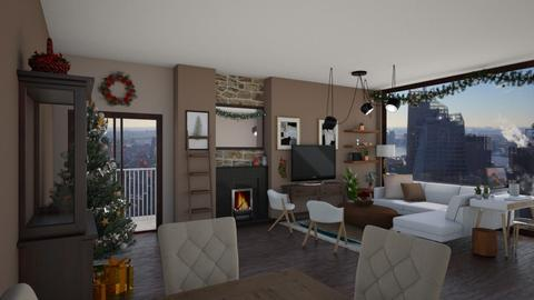 Minimalist Christmas  - Minimal - Living room  - by Kendal Peterson
