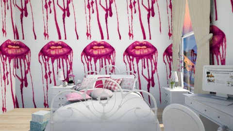 Dripping lips - Feminine - Bedroom - by beccamc