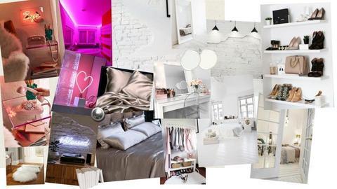 neon white bedroom - by Cheyenne2004