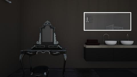 dark bathroom - Rustic - Bathroom - by allyballymay