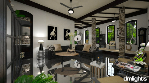 SantoDomingo renov - Living room  - by Lackew