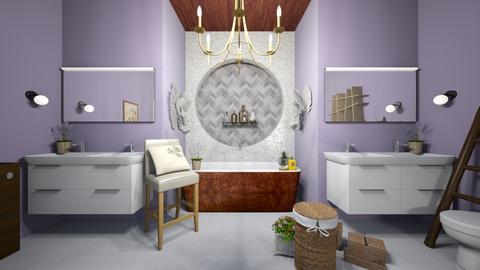 Lavender Bathroom - Bathroom - by Alexis and Natalie
