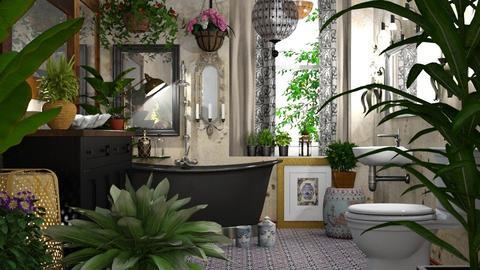 Bohemian Bathroom Design - by ritsa