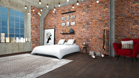 New industrial - Eclectic - Bedroom  - by Val Val