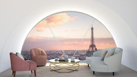 A loft in Paris - Living room  - by zozan