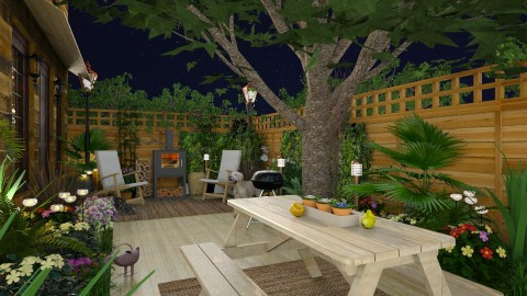 Design 281 Evening in the Back - Garden - by Daisy320