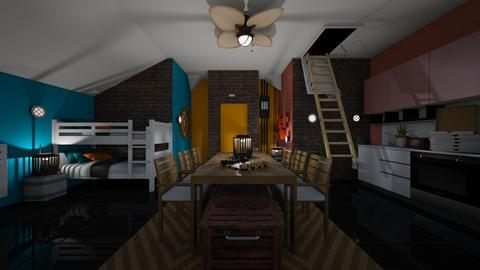 TheBunker - Living room  - by PAPIdesigns