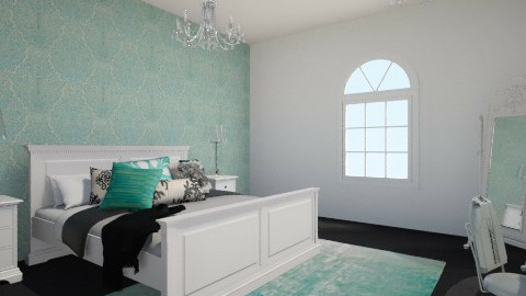 Elegant Bedroom - Glamour - Bedroom  - by BonnieKearns