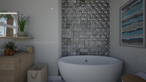 White Bath - Bathroom  - by Alexis and Natalie