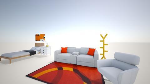 orange apartment  - Living room  - by Jolee D