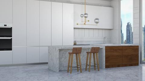 Minimalist kitchen  - Modern - Kitchen  - by NEVERQUITDESIGNIT