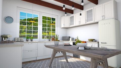 Moderna Farmhouse Kitchen - Kitchen  - by lyrikkah