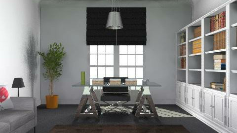 Home Office/Library in the Suburbs - Classic - Office  - by Carliam