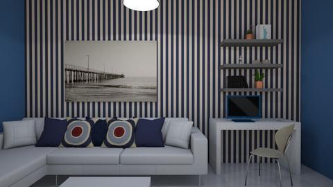 sala  azul oscuro - Living room  - by clasesytutorias