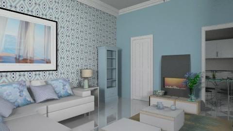Duplex_lower floor - Modern - Living room  - by auntiehelen