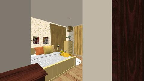 yellow studio apartment - Vintage - by minty_builds