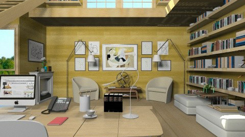 Study room 2 - Modern - Office  - by XValkhan