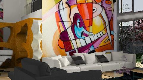 modern house 2 - Modern - Living room  - by bizarrrr