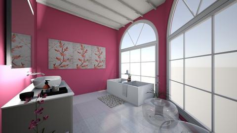 PINK BATHROOM - Bathroom  - by tcatte1419