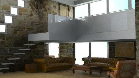 BarnConversion (Ver.2) - Rustic - Living room - by camilla_saurus