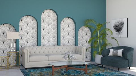 Art Deco Living Room - by flowerchild369