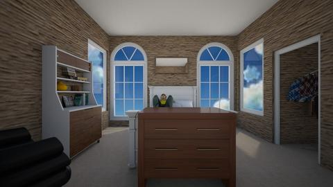 brick and glass JimboYT - Bedroom  - by JimboYT