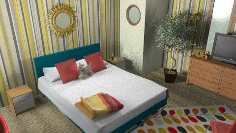 Bedroom 2 - Retro - Bedroom - by offershannon