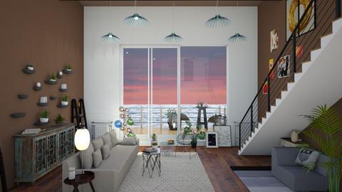 beach house - Living room - by mariazurkan