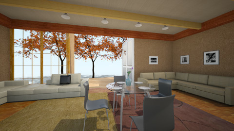 oker room 1 - Country - Living room - by Boka i Deki