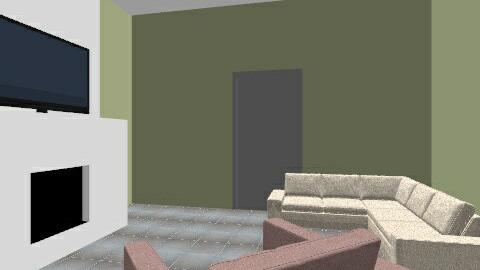 Basement - Vintage - Living room  - by cbgantt