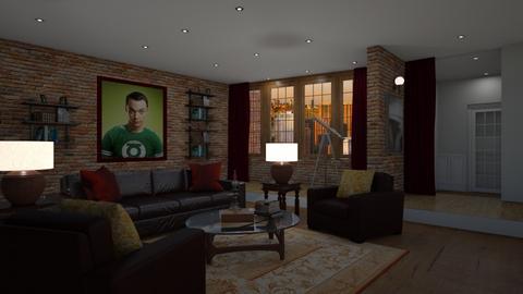 Sheldon Cooper - Living room  - by Elenny