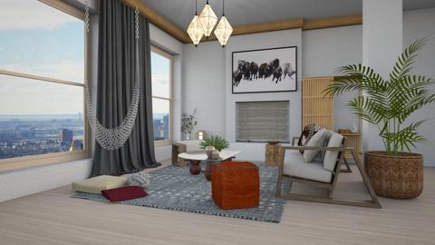 boho_living_contest - Living room  - by claudia secareanu