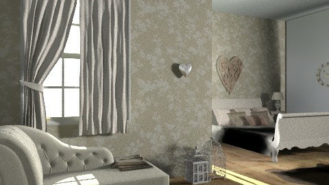 vintage room - Vintage - Bedroom  - by rororo