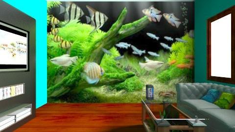 Aquarium - Living room - by langerreka