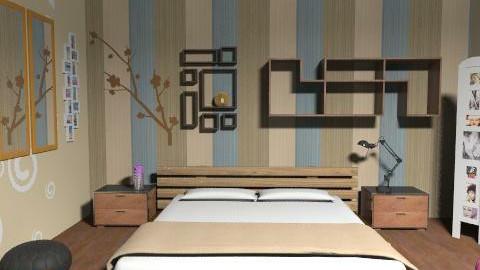 teste - Rustic - Bedroom  - by caarolinav