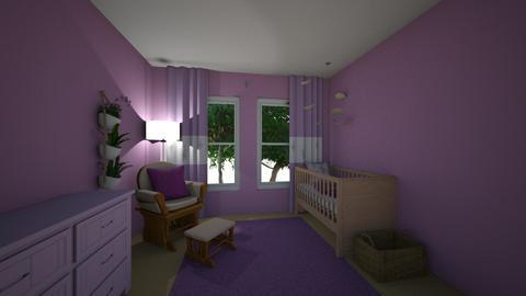 Monochrome Purple Nursery - by ellierocks13