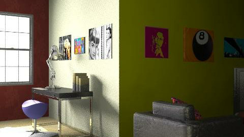 music loft - Retro - Living room  - by Aila DeCarlio