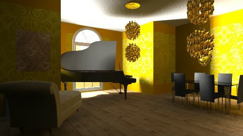 Golden Lounge - Glamour - Living room - by barfi2012