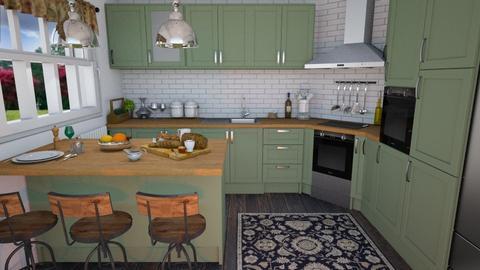 Green kitchen - Kitchen  - by Laurika