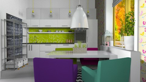 Fun kitchen - Eclectic - Kitchen  - by ovchicha