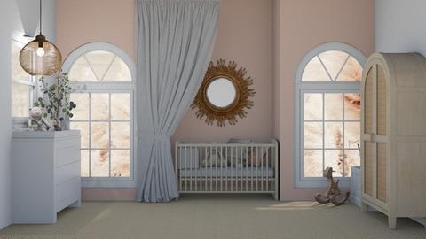 baby girls room - Bedroom  - by myz_design