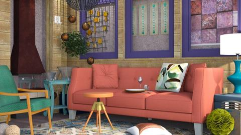 Eclectic Colored - Eclectic - Living room  - by Gurns
