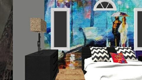 Bedroom - Retro - Bedroom  - by sherene33