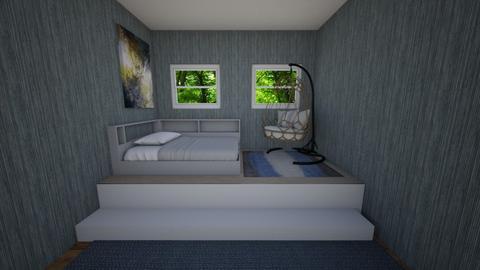Gray Peace - Bedroom  - by Emoana3652