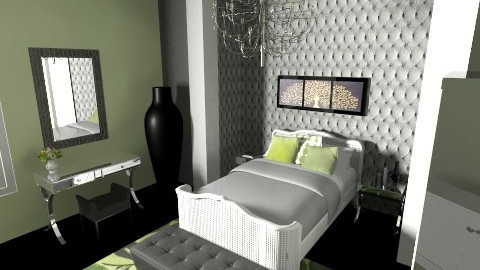 A Touch of Green - Eclectic - Bedroom  - by Sara D