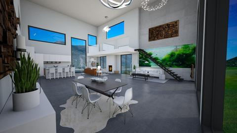 White N  - Modern - Living room - by Trishtan marie