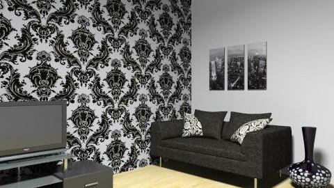 Black and White Livingroom - Glamour - Living room  - by girlkey