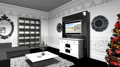 House 1 living room - Glamour - Living room  - by chrissymorrgan