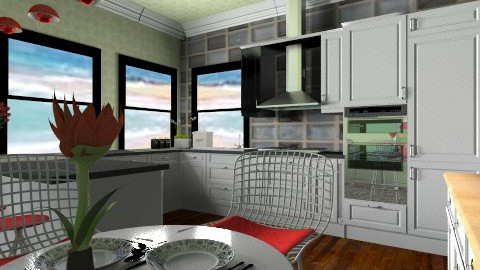 watermelo kitchen - Retro - Kitchen  - by goldengirllover