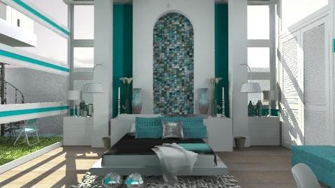 TurquoiseBedroomStien - Modern - Bedroom  - by StienAerts